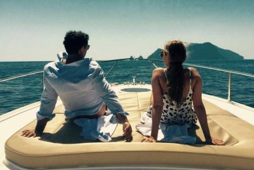 Capri sunset charter boat